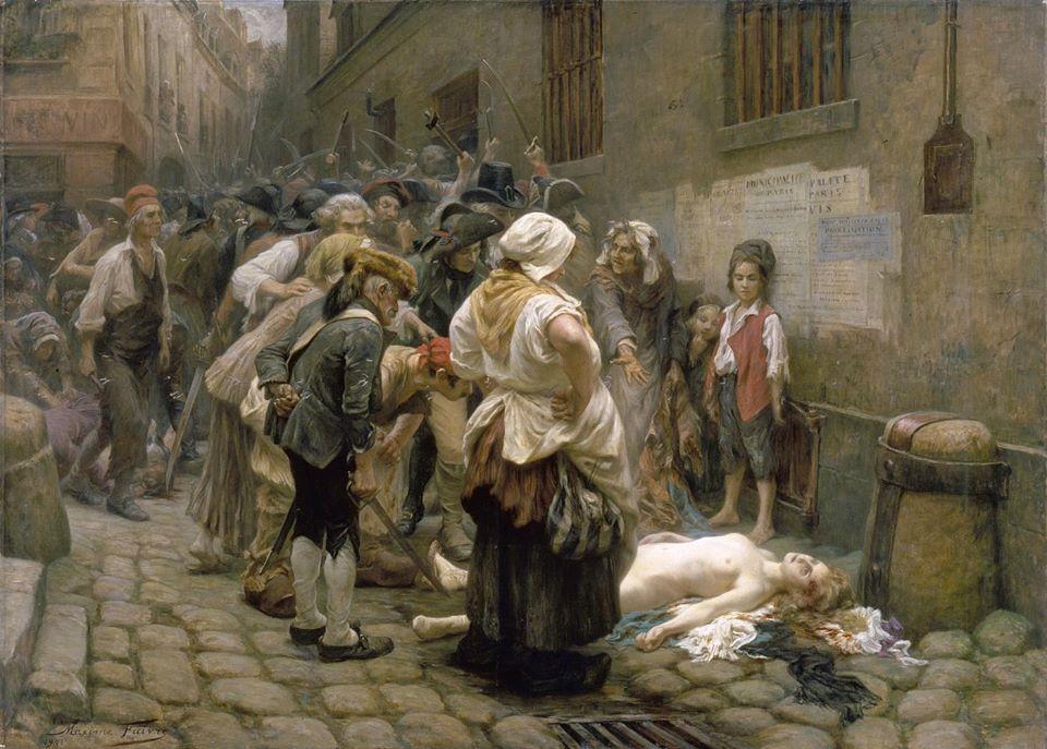 3 septembre 1792 effroyable depecage de la princesse de Lamballe  par sans-culottes.