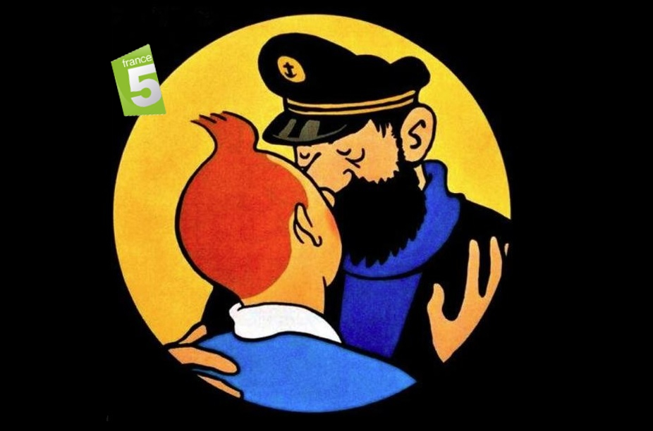 Tintin et Capitaine Hadock les maternelles