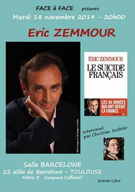 face à face eric zemmour à toulouse le suicide français