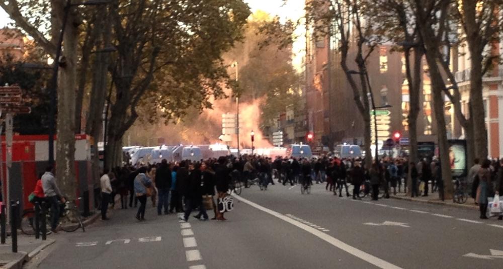 Toulouse : 2ème manifestation en hommage à Rémi Fraisse et incidents - le 08/11/2014