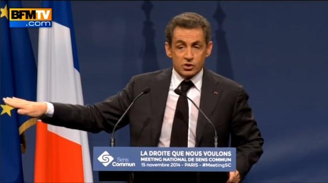 Sarkozy meeting sens commun