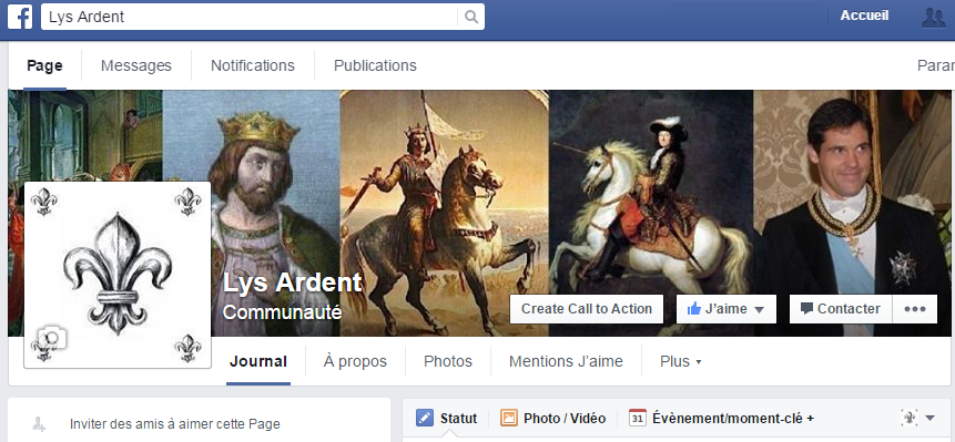page facebook lys ardent