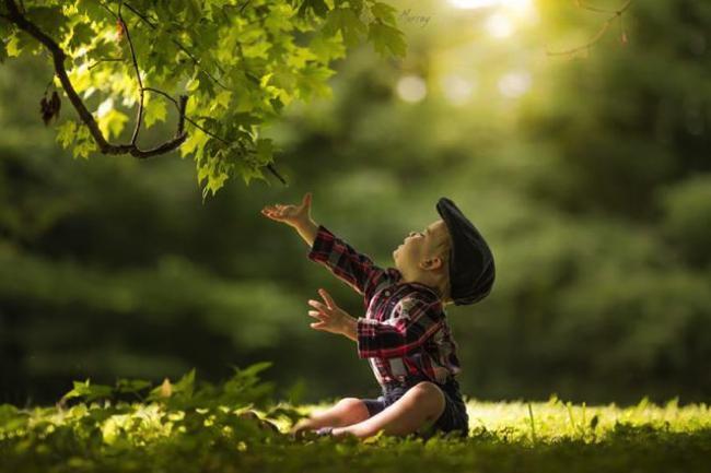 eveiller les enfants au beau nature
