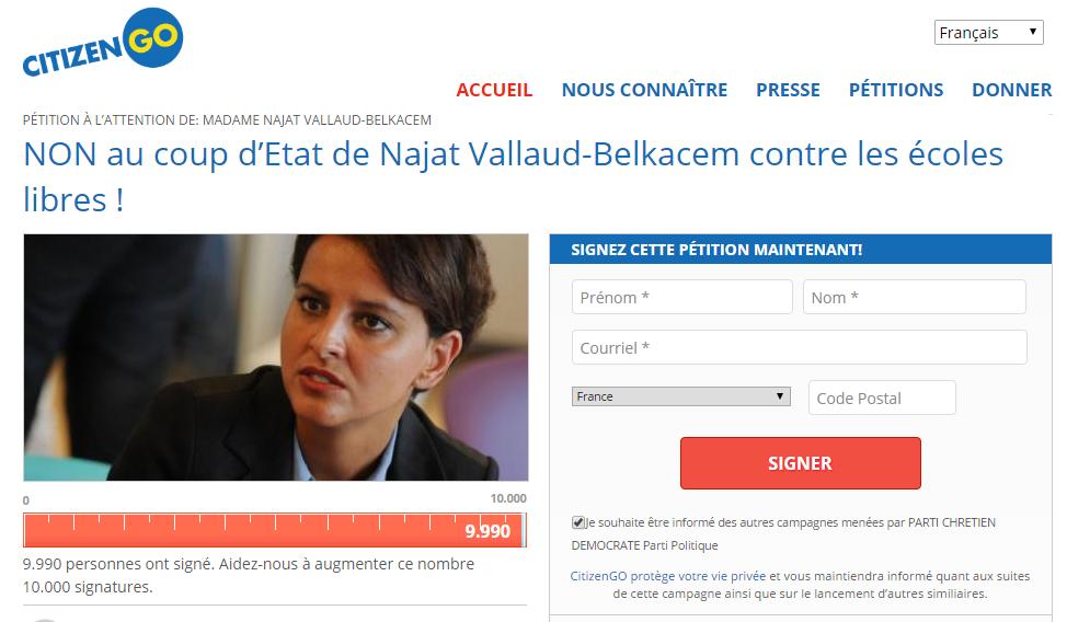 petition ecole libre
